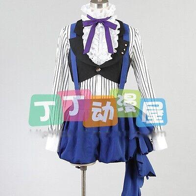 Hot Anime Black Butler Ciel Phantomhive Circus Cosplay Costume Free Shipping