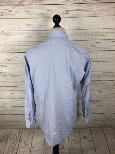 "Blue Lowell Lauren Shirt 15"" Men's Great Size Condition Ralph UzqFv"