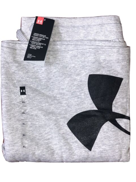 """Under Armour Men/'s UA Rival Fleece Logo Shorts 10/"""" Grey L 2XL NWT XL"""