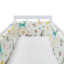Baby-Crib-Bumper-Thicken-Pad-Breathable-Comfy-Toddler-Bed-Cot-Protector-Cotton miniature 10