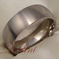 Titanium Ring Matte Wedding Band Men's Brushed Jewelry Size 6-13