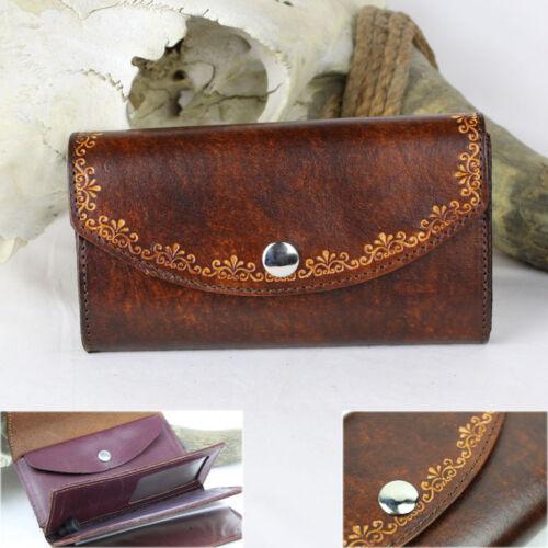 Ladies Organizer 70er Vintage Damen Geldbörse Portemonnaie Wallet Echt Leder USA