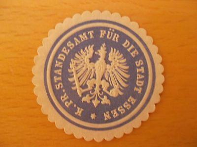 K Pr 14281 Siegelmarke Standesamt Essen FäHig