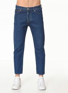 Jack /& Jones Jeans 12133425 Man Cropped Regular Rise Pants Trousers Straps