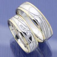 Bicolor Trauringe Eheringe Hochzeitsringe Visions 585 Gelb Weissgold P4223635