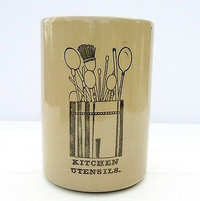 Vintage Retro Pearsons Stoneware Kitchen Utensils Jar Pot