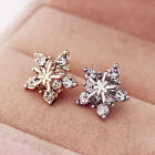 Women Girls Cute Pentagram Snowflake Crystal Rhinestone Ear Studs Earrings New