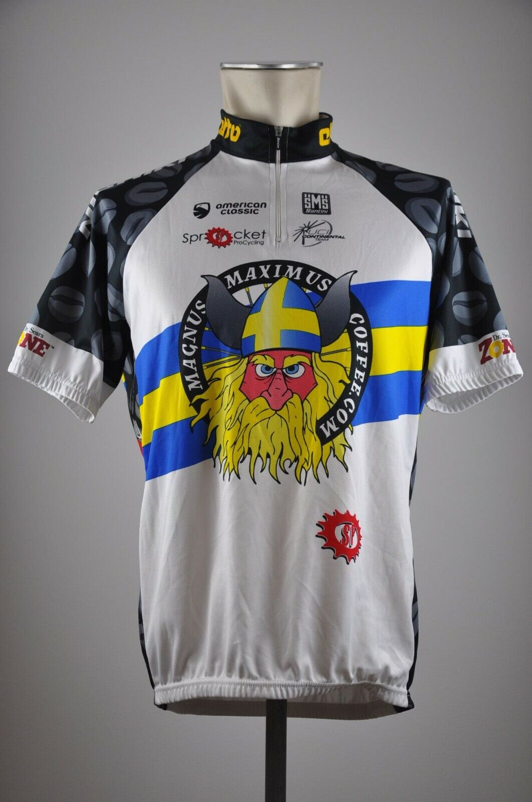 Santini UCI Maximus Coffee Trikot Fahrrad Gr. XXL 59cm Bike cycling jersey IZ7