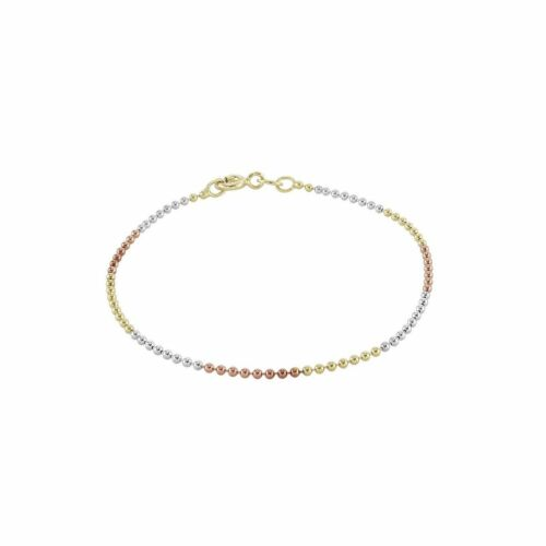 Dew Set Gold and Rose Gold Plated Ball Chain 7.5 Bracelet CB01GRG75