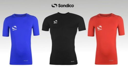 Boys Sondico Crew Core Baselayer Short Sleeves Football Training Top 7-13 Yrs