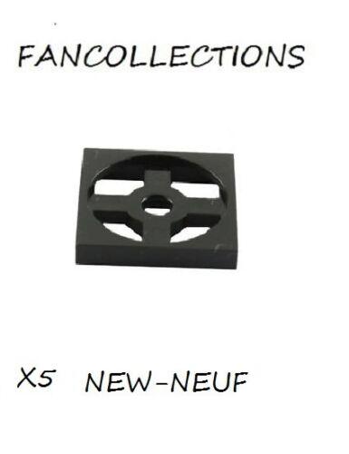 LEGO x 5 Base Black Turntable 2x2 Plate 3680  NEUF