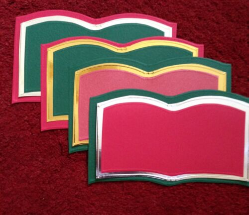 4 X 3 PAGES BOOKATRIX CARDS READY TO DECORATE