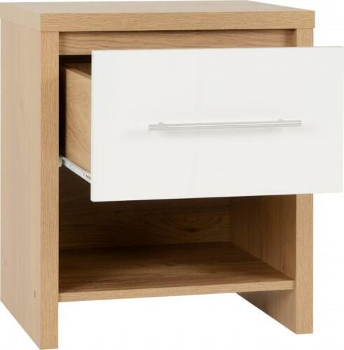 Oak Effect White Gloss Bedroom, White Gloss Bedroom Furniture Range