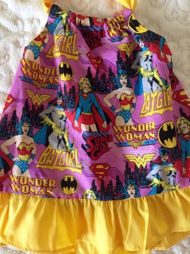Wonder Woman Girls Summer Dress Size 12 Months and 2T