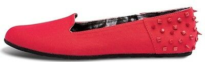 Volcom SUMMER SCHOOL Womens Flat Shoes 7 US Red Canvas NEW