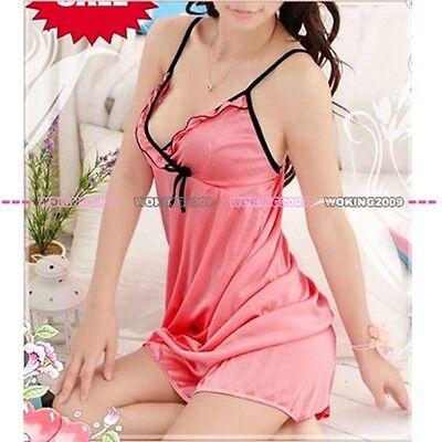 New Lovely Rose Sexy LingerieUnderwear Babydoll Dress G-String Sleepwear 2179