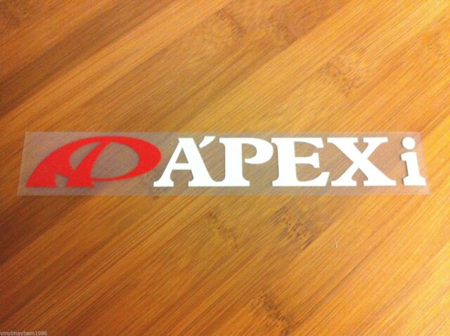 APEXi APEX Integration JDM vinyl 2 color sticker decal intake exhaust suspension