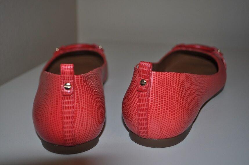 NEW  235+ Tory Burch Mini Miller Ballet Flat Shoe Shoe Flat Melon Micro Tejus Sz 6.5 07146a