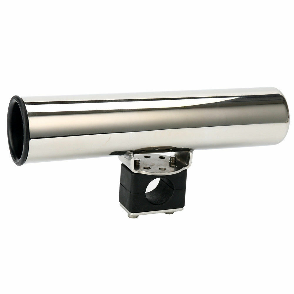 Stainless Steel Rail Mounted Clamp on Rod  Holder for Fishing Boat 7 8  to 1 Rail  discount low price