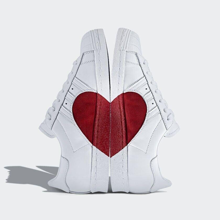 Adidas Superstar 80s Half Heart donna Men scarpe scarpe da ginnastica Hit Dimensione 5-11