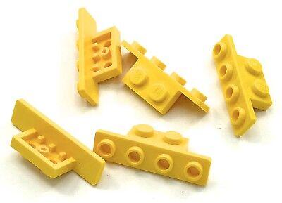 Lego 5 New Yellow Brackets 1 x 2-1 x 4 Pieces Parts