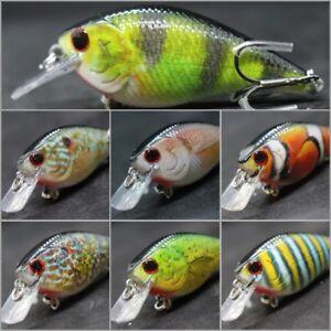 Crankbait-Fishing-Lures-Wide-Wobble-Slow-Floating-Lifelike-Painting-2X-Hook-HC15