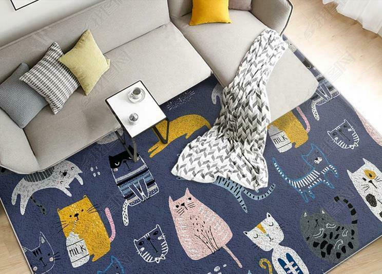 3D Abstract Cartoon Cat Non-Slip Rug Door Door Door Shower Play Mat Hearth Floor Carpet33 12795f
