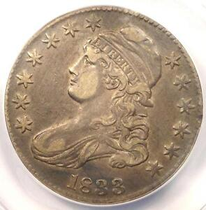 1833-Capped-Bust-Half-Dollar-50C-O-102-ANACS-XF40-Details-EF40-Rare-Coin