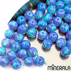 PURPLE-W-GREEN-SPARKS-SYNTHETIC-LAB-CREATE-OPAL-ROUND-BEADS-VARIOUS-SIZE-WP001FD