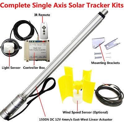 1KW Solar Tracking Sun Tracker System /&12V Linear Actuator /&Light Sensor /&Remote
