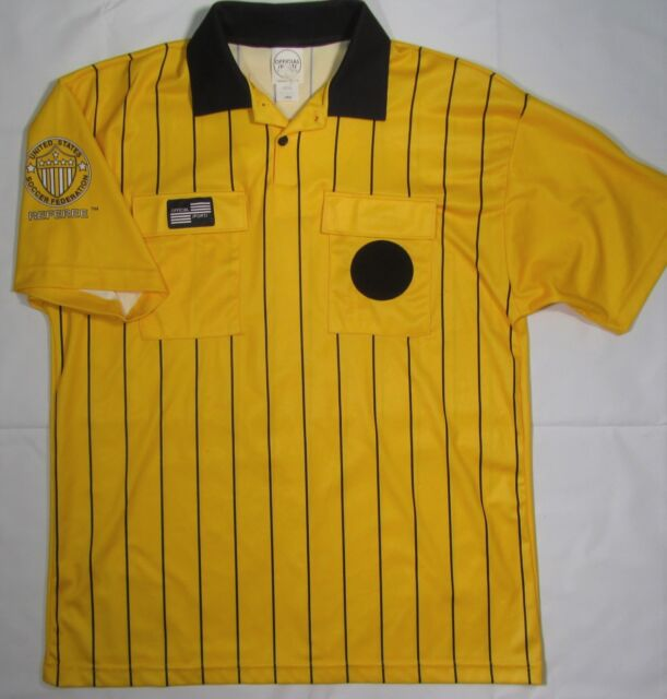 4bccb28374f NWT OFFICIAL SPORTS ~ Polyester Soccer Referee Jersey ~ Men s Large - Yellow