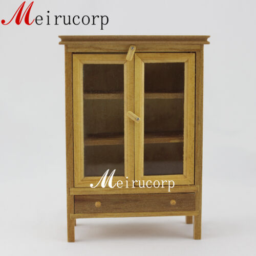 112 Scale Miniature Furniture Handcrafted Wooden Lovely Cabinet For Dollhouse