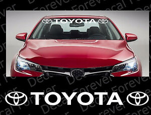 TOYOTA Windshield Racing Sports Vinyl Car Window Decal Sticker - Car window decal stickers sports
