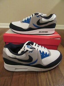 Details about Nike Air Max Light Size 11.5 White Obsidian Atmosphere Grey AO8285 100 New NIB