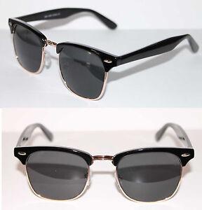 Black Frame Glasses With Gold : Wayfarer Soho Sunglasses Black Gold Frame Clubmaster retro ...