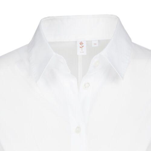 Camicia Seidensticker bodybluse nera rose Slim Bianco 080620.01