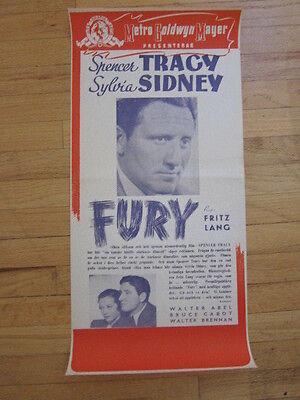 Fury Spencer Tracy vintage movie poster print