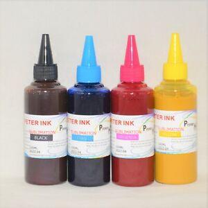 4X100ML Premium Sublimation refill Ink alternative for 4 colors Printer CISS c