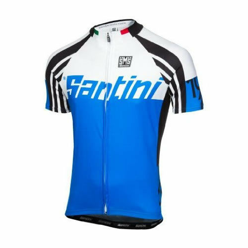 Made in Italy by Santini Zest Short Sleeve Cycling Jersey in Blue
