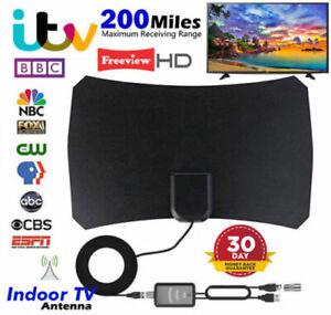 Antenna-TV-Interna-Amplificata-Potente-1080P-Digitale-HDTV-per-VHF-UHF-Aerial