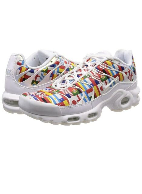 quality design 5111a b271d Nike Air Max Plus NIC QS Size 11.5 White Multi Color Ao5117 100 World Cup DS