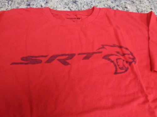 New Dodge Men/'s SRT Hellcat Logo Inside Out Print Crew Neck T-Shirt Red Large