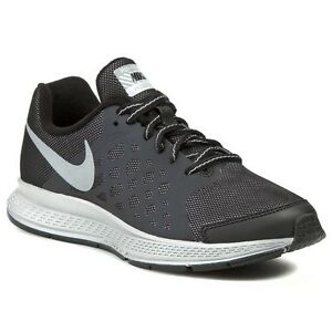 4cc2a12e5178 Nike Zoom Pegasus 31 Flash GS Black reflect Silver Running Sneakers ...