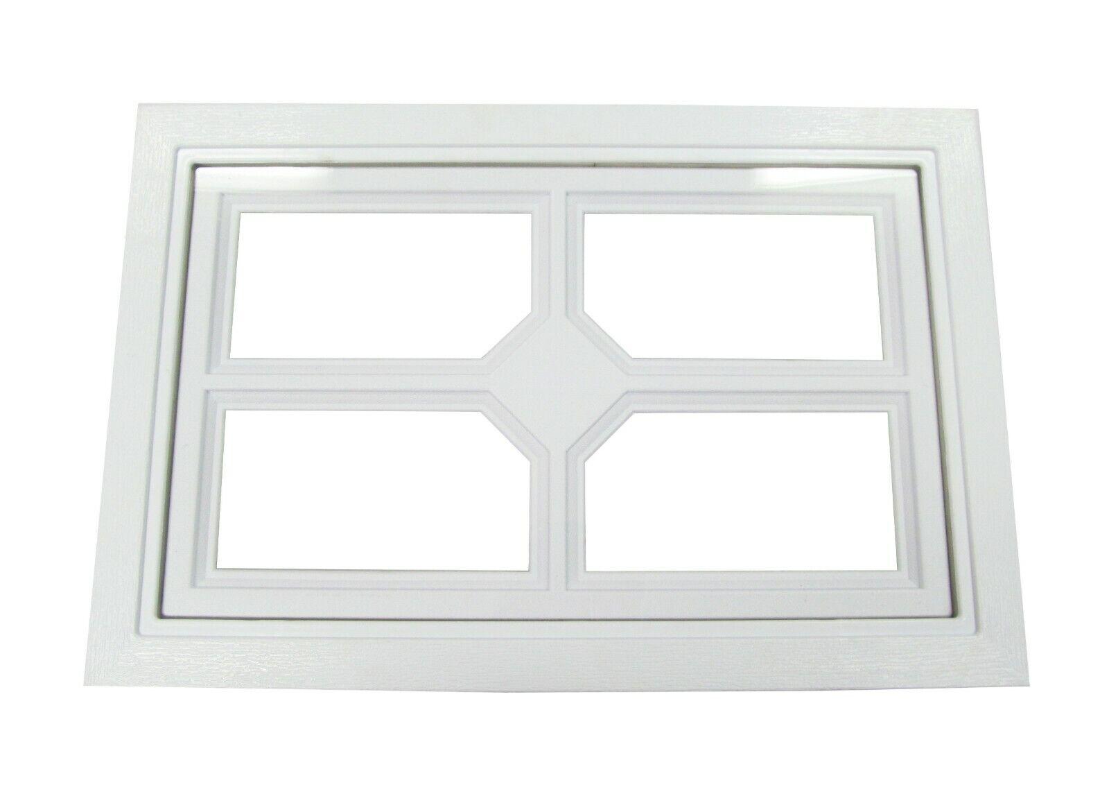 Garage Door Windows Cross Diamond Design