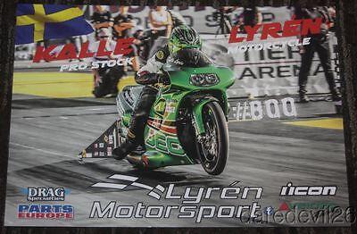 2015 Eddie Reed Nitrofish Suzuki GSXR Pro Stock Motorcycle NHRA postcard