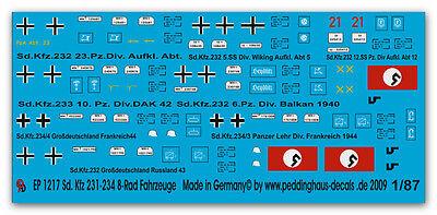 Peddinghaus  1//87 0918 Deutsche Fahrzeugkennzeichen WH /& der Sonderverbände