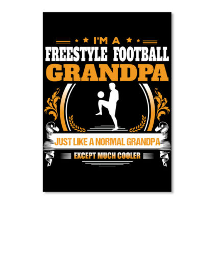 Details about  /Freestyle Football Grandpa Gift Sticker Portrait