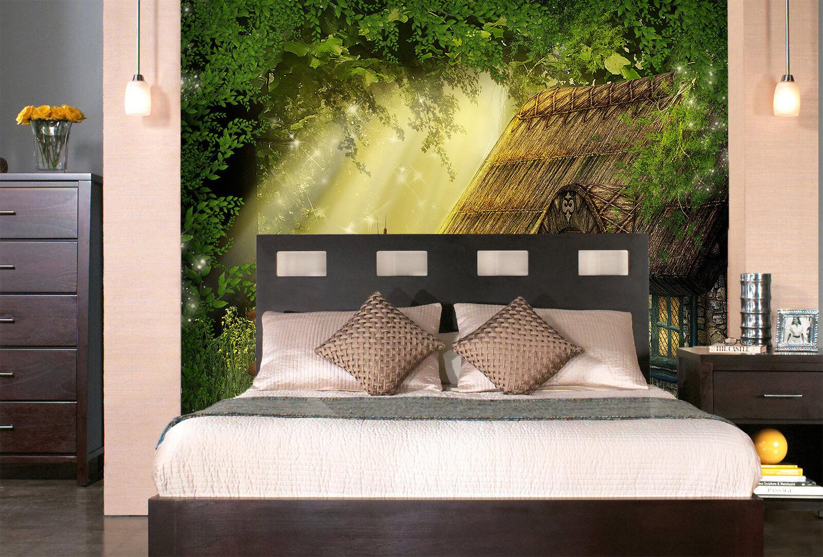 3D Sonnenschein Pilze Haus 83 Tapete Wandgemälde Tapete Tapeten Bild Familie DE