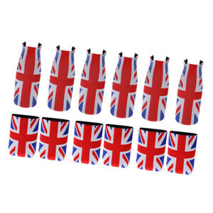 12-pezzi-Union-Jack-UK-Flag-Stubby-Beer-Can-Portabottiglie-in-neoprene