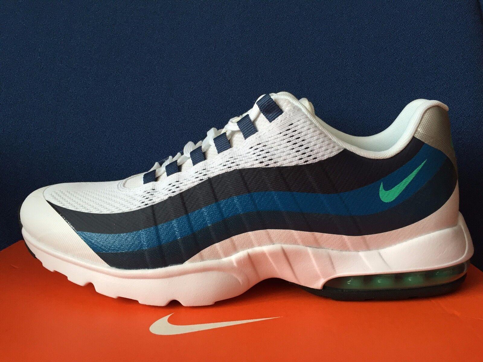 New Women's Nike Air Max 95 Ultra Running shoes 749212 100 White bluee Sz 12